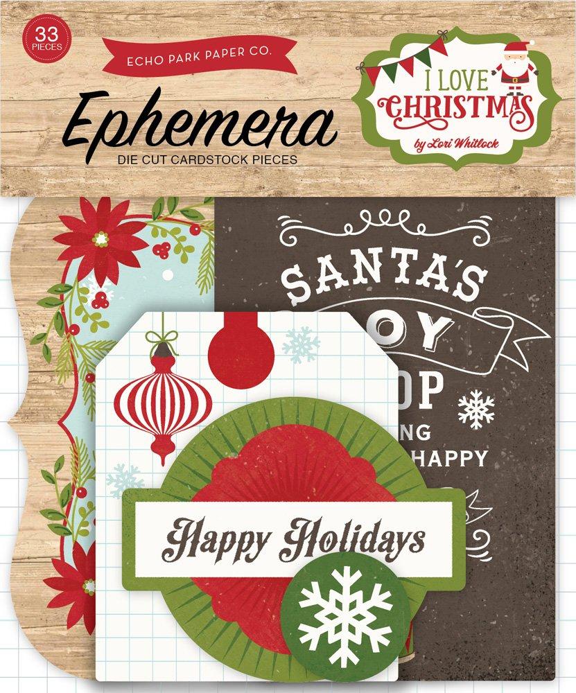 I Love Christmas Ephemera