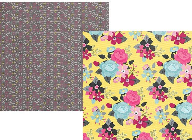Love & Adore 12x12 Printed Paper-Hello Beautiful