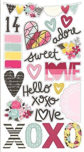 Love & Adore Chipboard Stickers