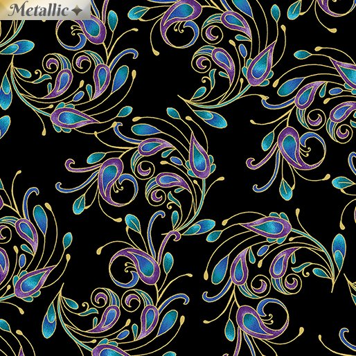 Peacock Flourish Spin It Black Multi