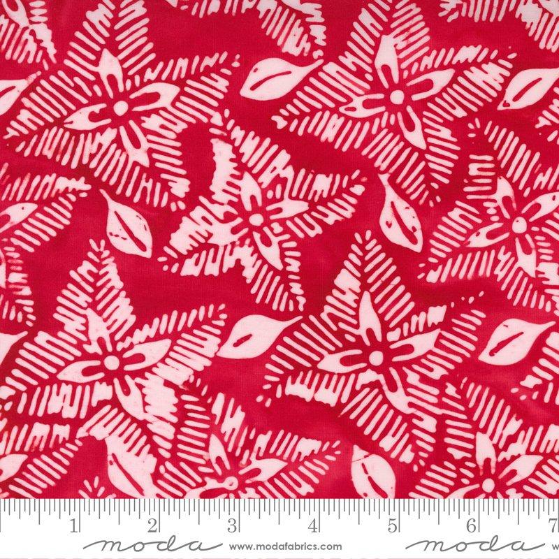 Felicity Batiks Red Floral