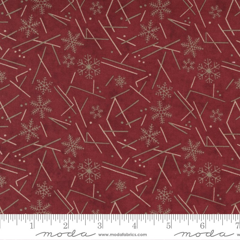 Warm Winter Wishes Flurry Deep Red