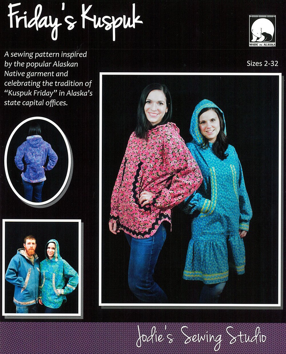 Jodie's Sewing Studio Friday's Kuspuk Size's 2-32