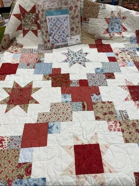 Brightly in French General Quilt Kit