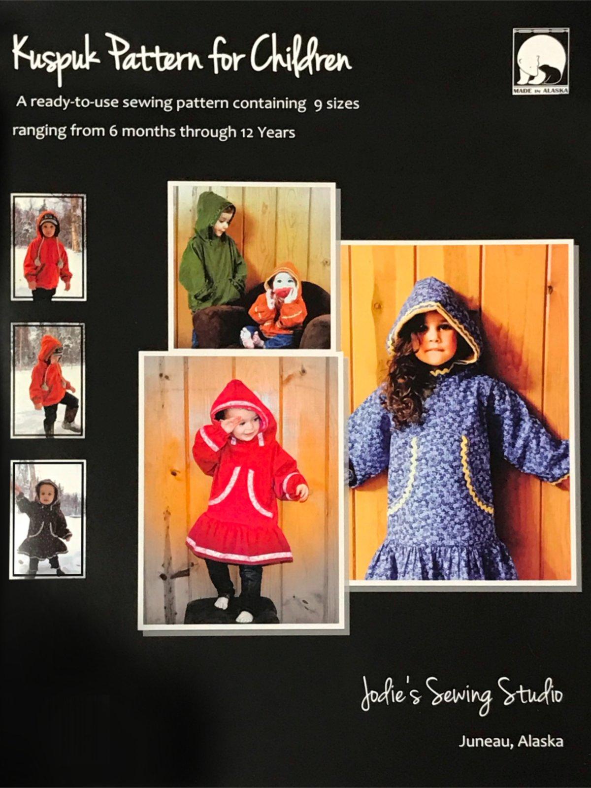 Jodie's Sewing Studio Kuspuk for Children Size's 6 months - 12 years