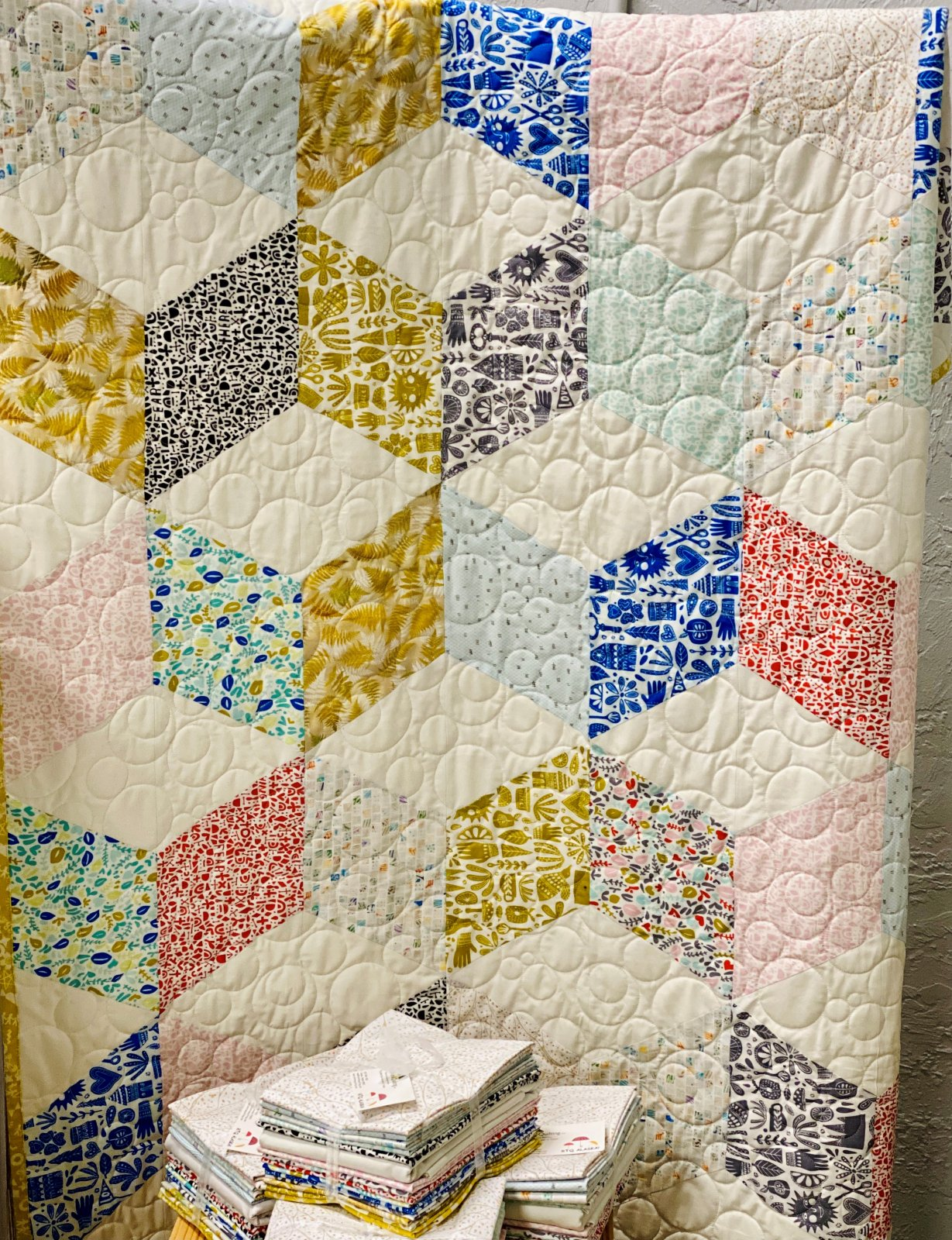 Cubism Rising Star Quilt Kit