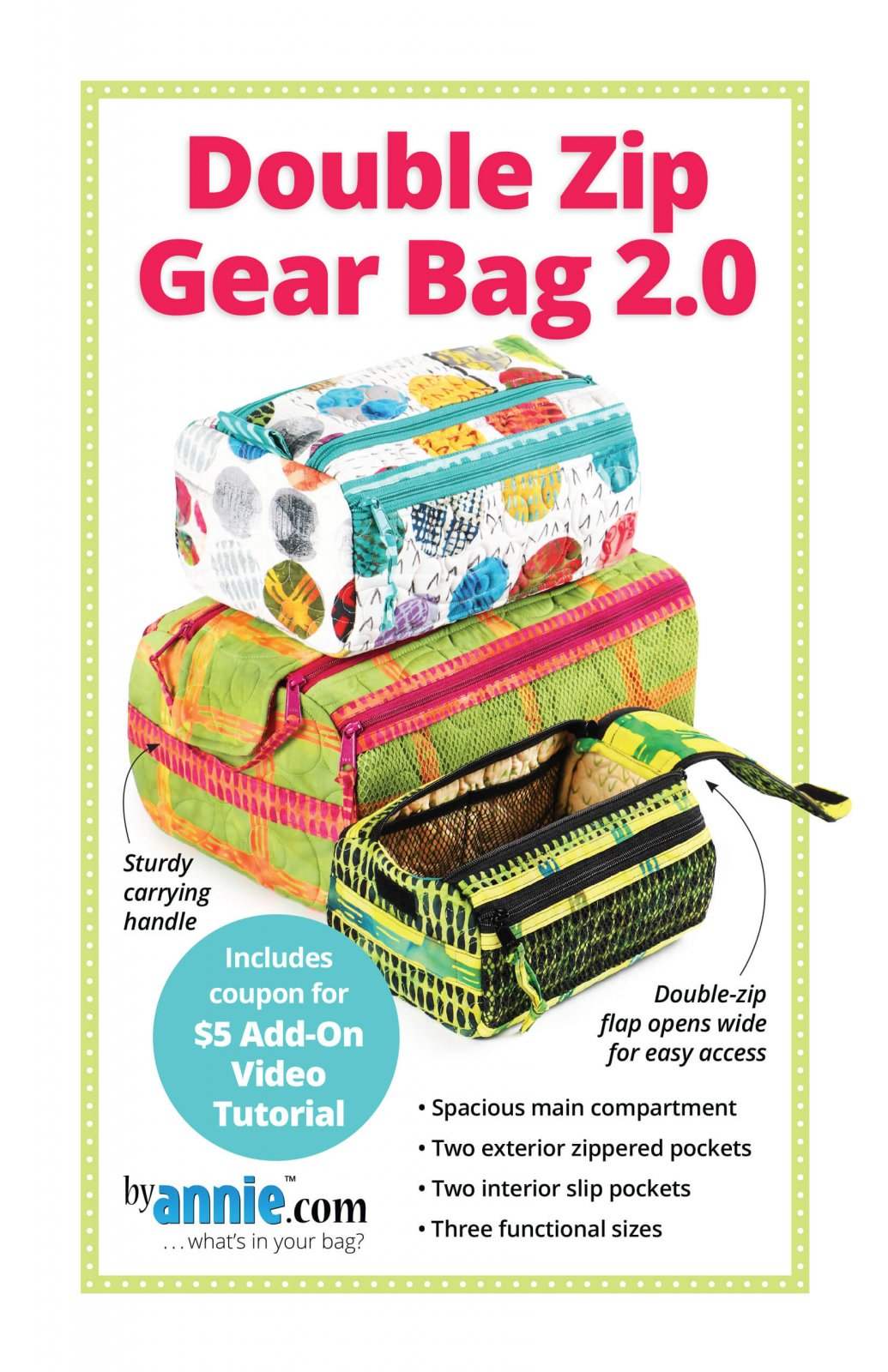 By Annie Double Zip Gear Bags 2.0