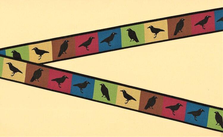 Jacquard Trim Autumn Ravens 5 Yd Pack