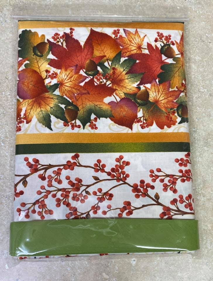 Autumn Easy Striped Table Runner Kit