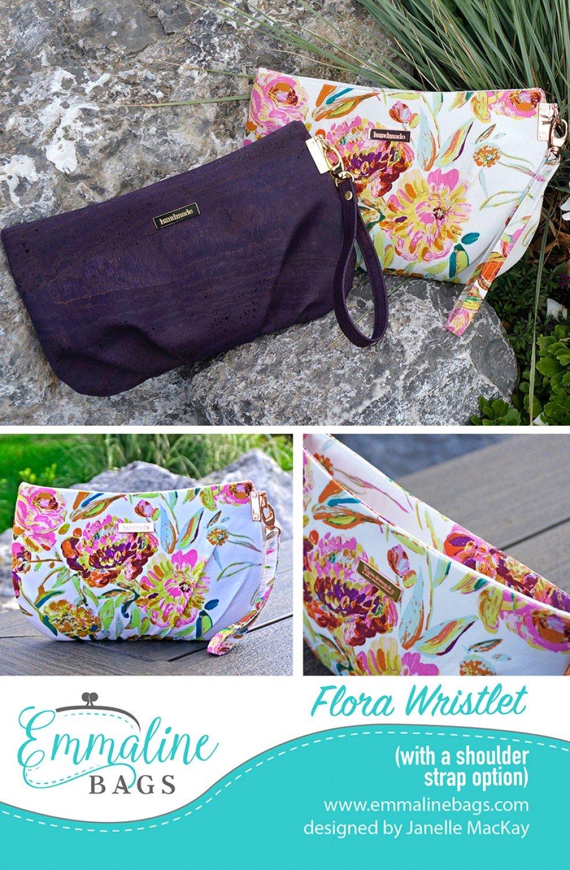Flora Wristlet Pattern & Nickel Hardware Kit