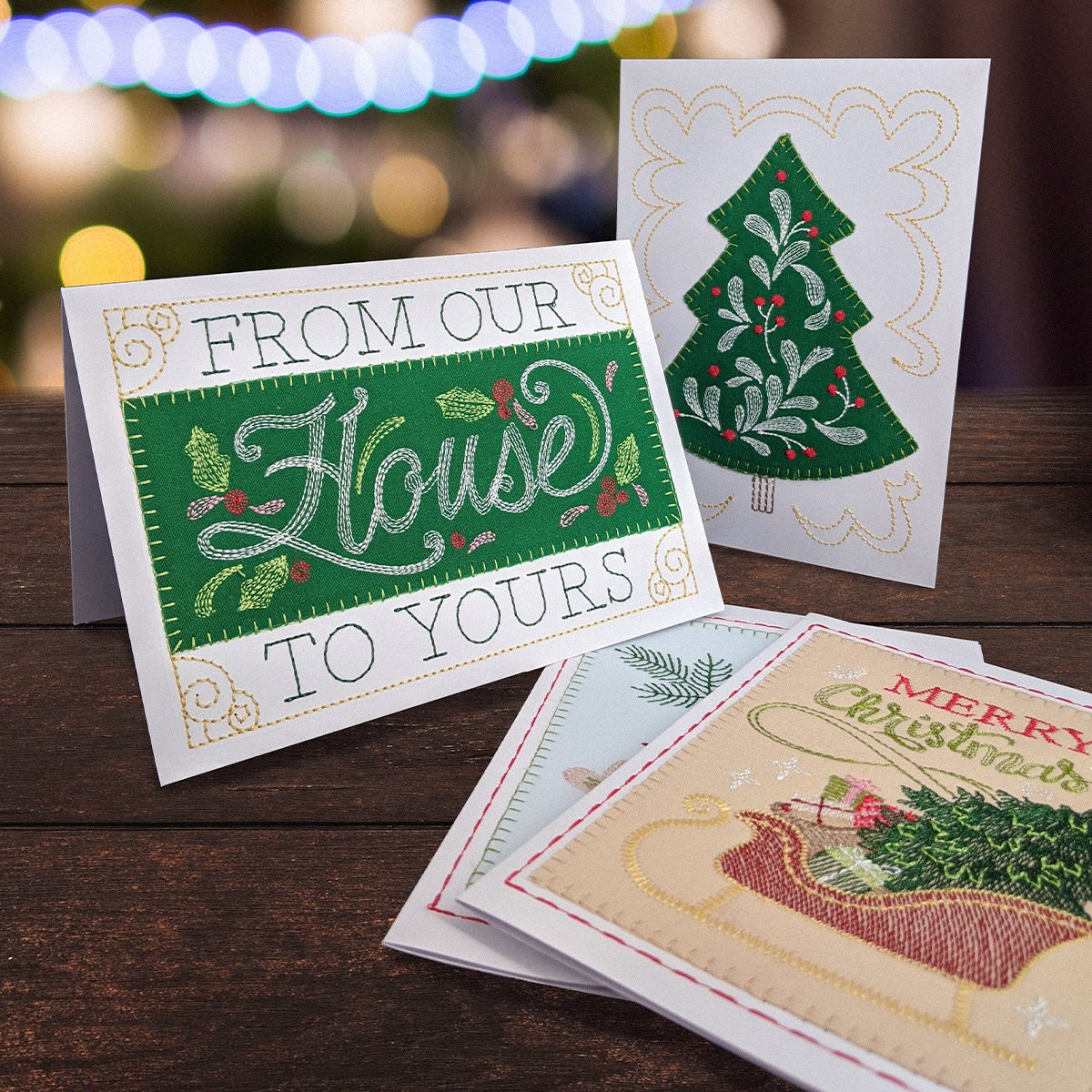 Holly Jolly Greeting Card Bundle A6