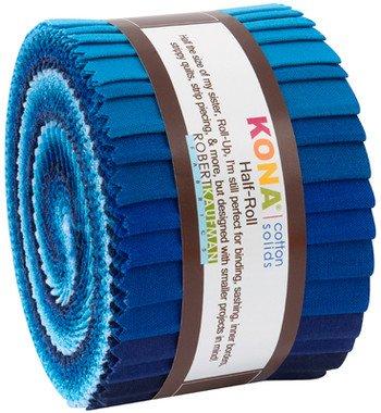 Kona Strips Half Rolls Waterfall Palette 2.5in