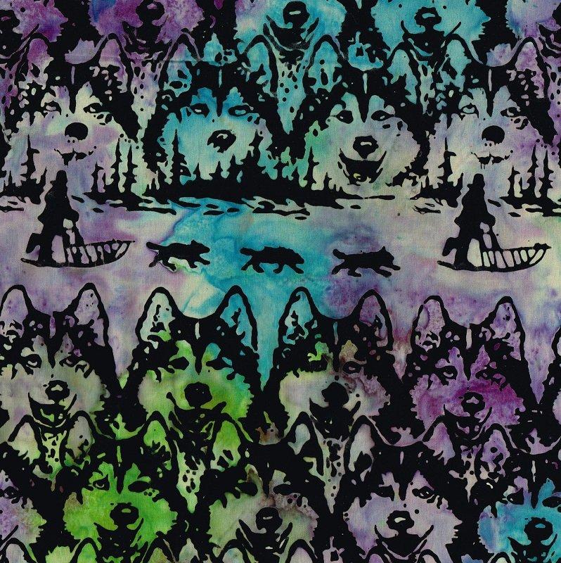 Huskies Dog Sled Batik