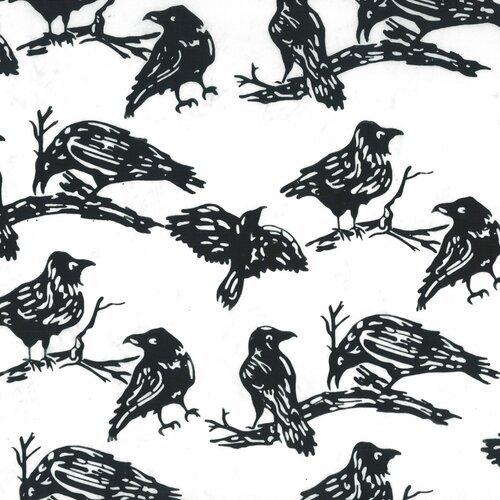 Hoffman Batik Ravens Black