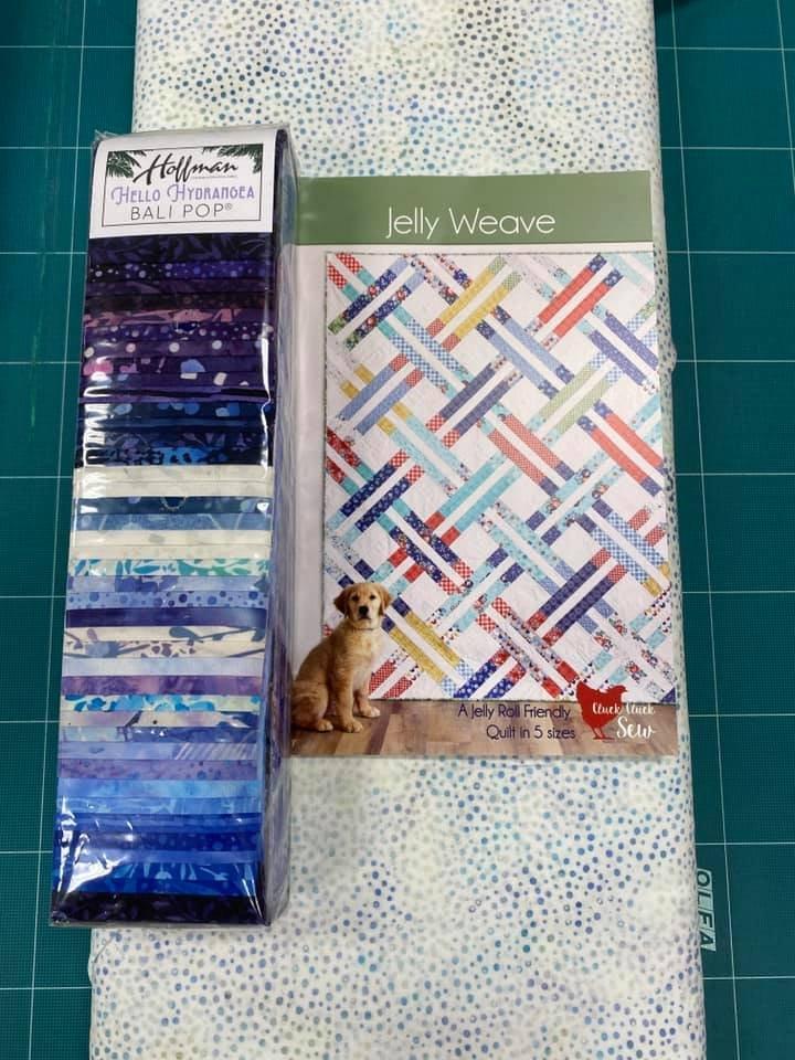 Jelly Weave Hydrangea Quilt Kit