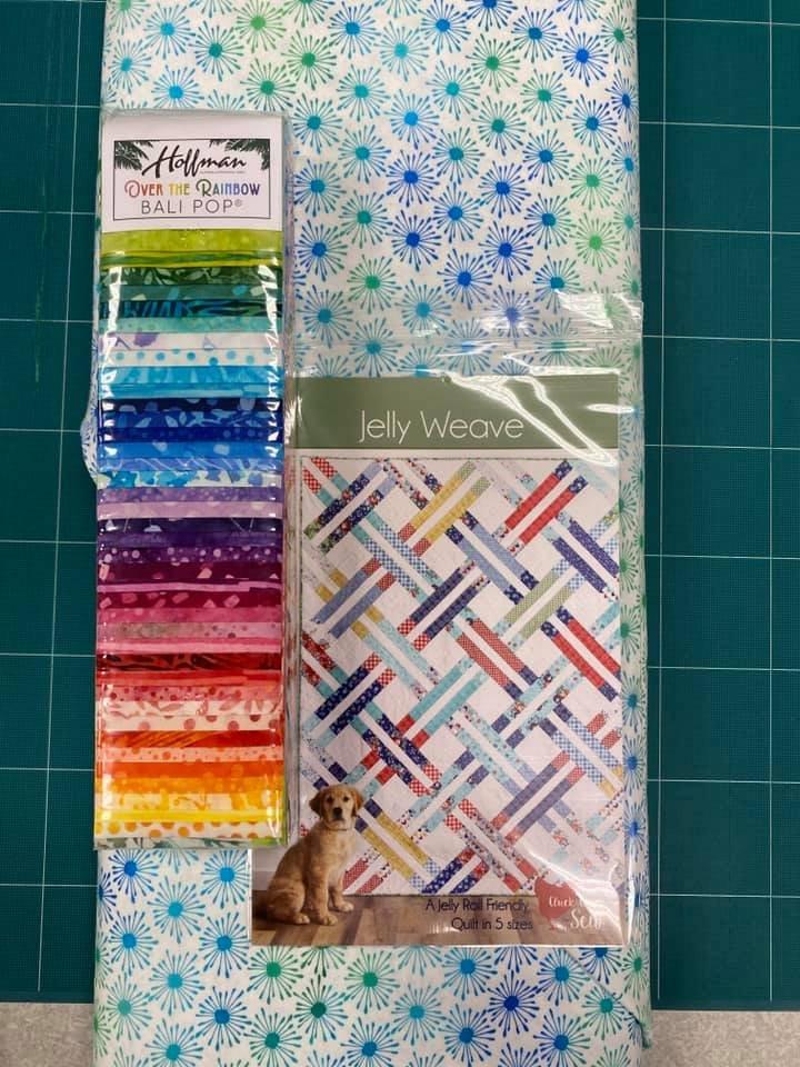 Jelly Weave Rainbow Quilt Kit