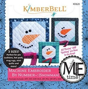 Kimberbell Machine Embroider by Number: Snowman