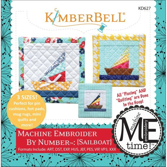 Kimberbell Machine Embroider by Number:Sailboat