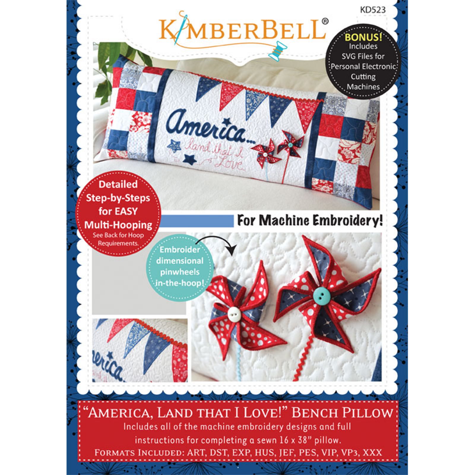 Kimberbell Machine Embroider by Number:Kite