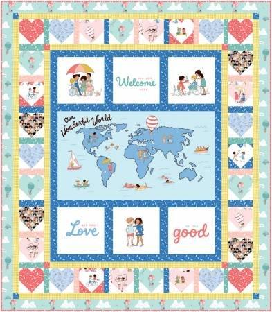 Spread the Love - Wonderful World Quilt Kit