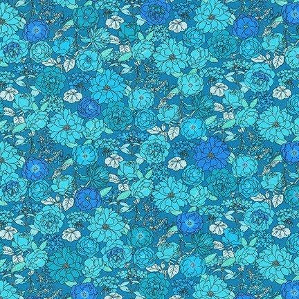 Laguna Cotton Jersey Knit Blue Jay Print