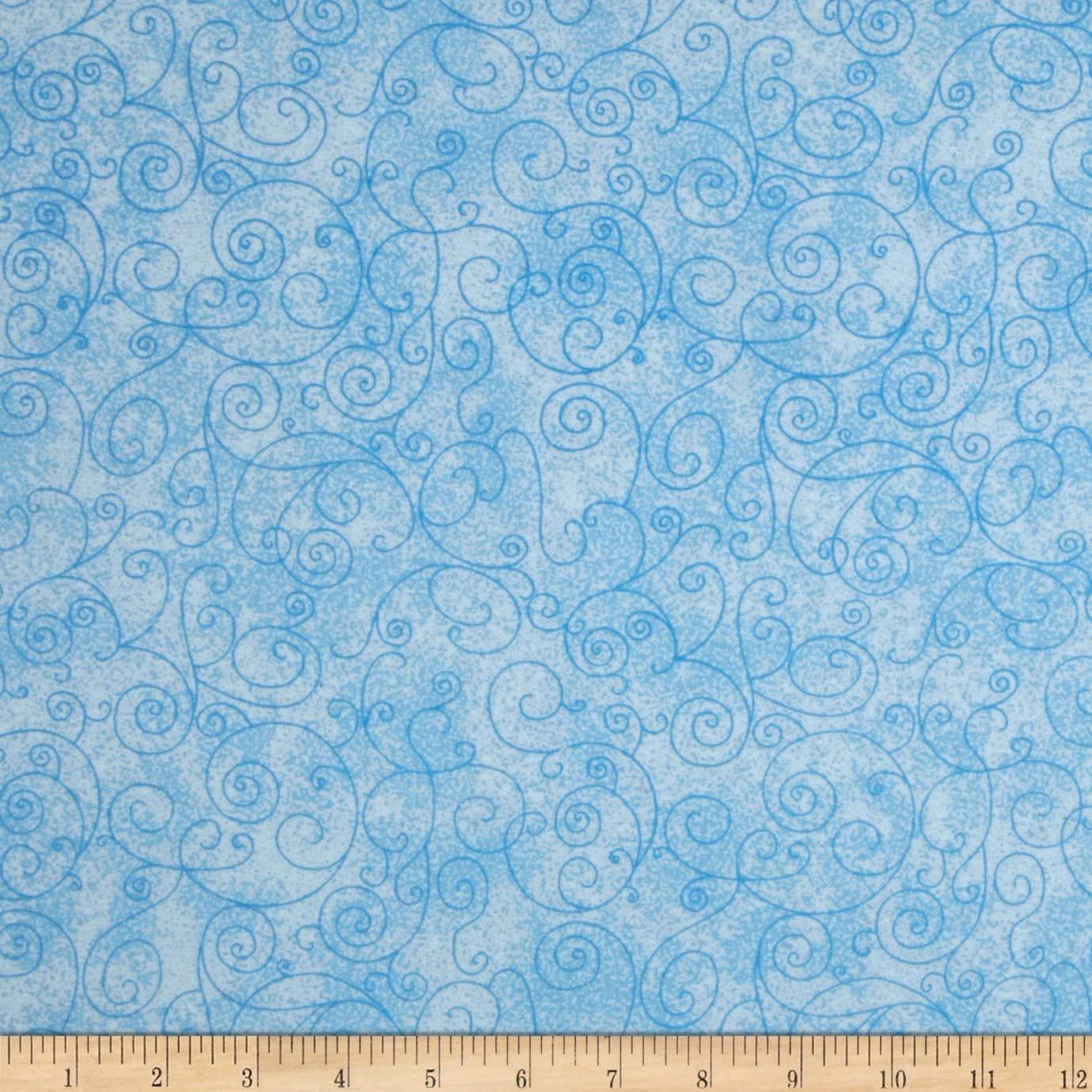 110 Willow Flannel Lt Blue Swirl
