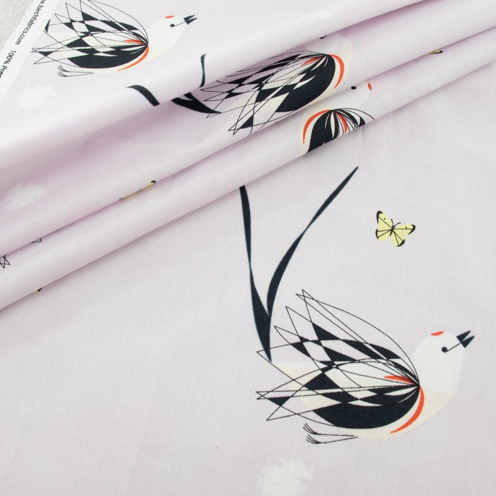 Charley Harper Scissortailed Flycatcher Poplin