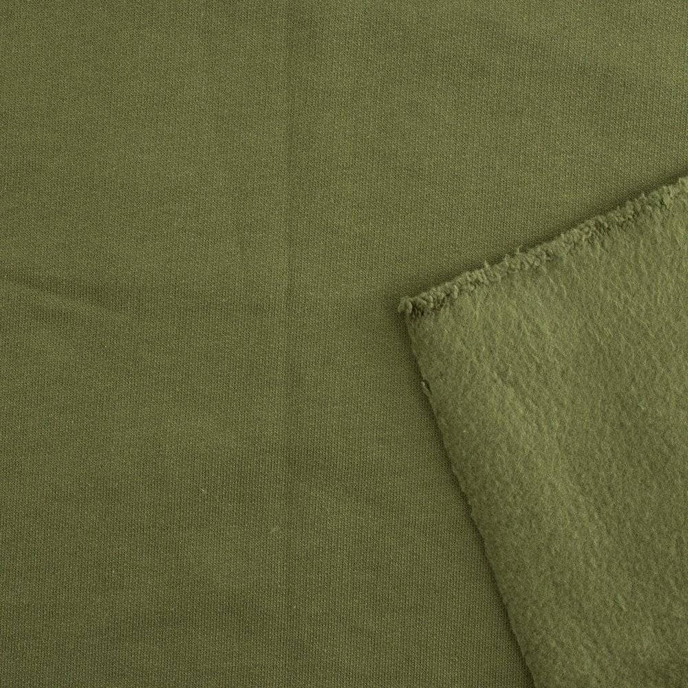 Birch Organic Cotton Fleece Jungle Green