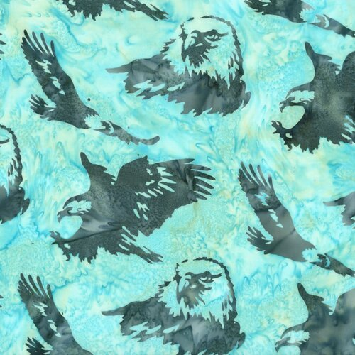 Hoffman Batik Eagles Seafoam