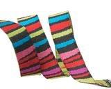 Dark Fanciful Stripes Ribbon