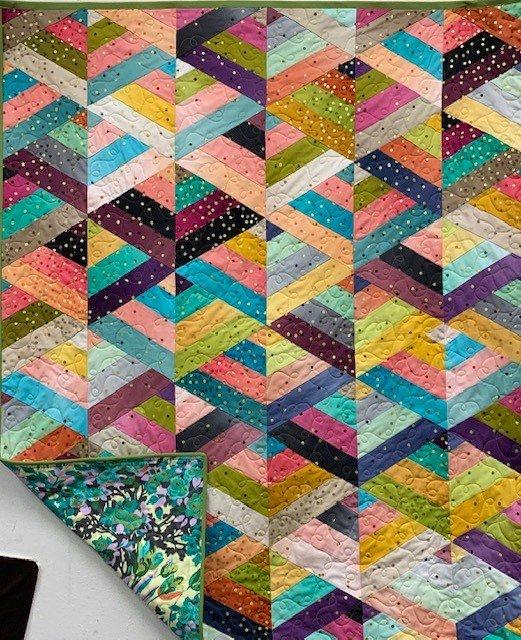 Ombre Confetti Strip Quilt
