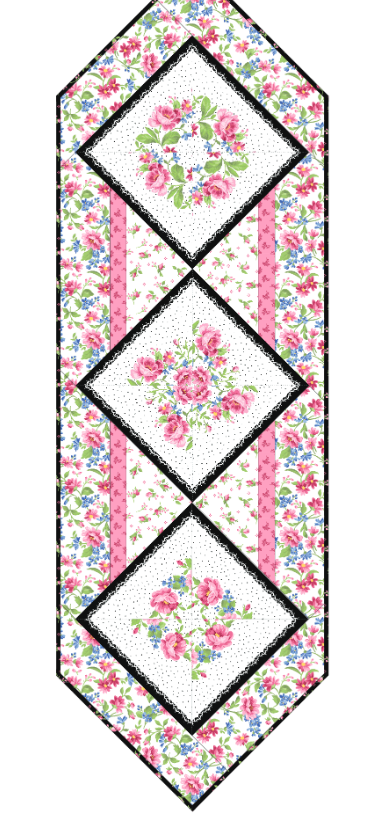 Pretty Sweet Floral Wreath Table Runner