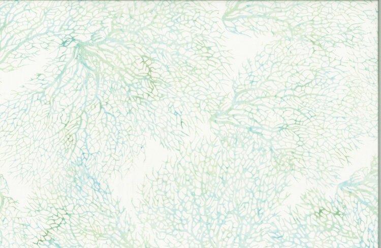 Hoffman Bali Batik Coral Bluegrass