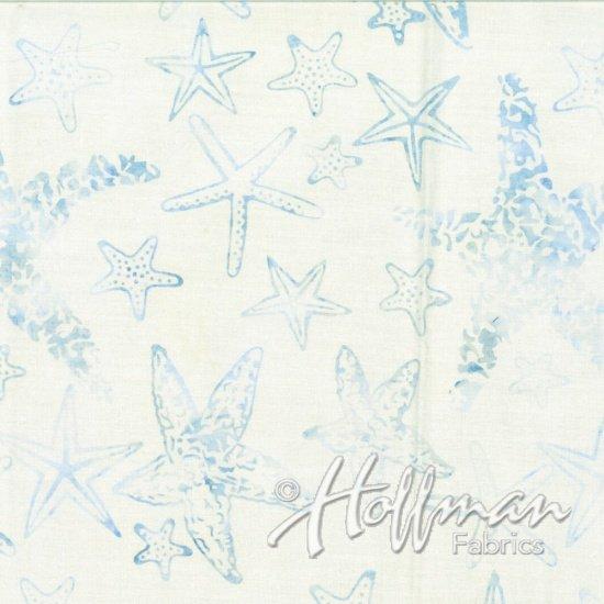 Hoffman Bali Batik Starfish Seasalt