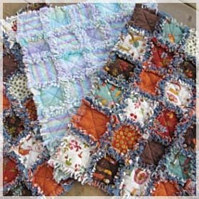 Small Rag Quilt Kit 27 x 33
