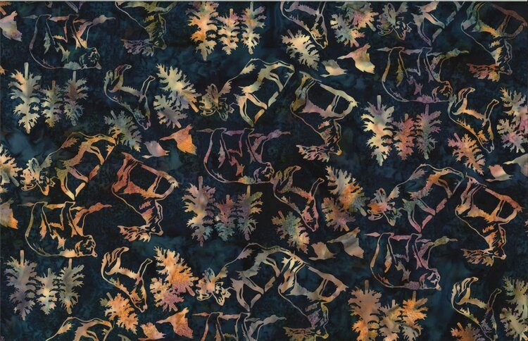 Hoffman Bali Batik Wildlife Animals Pacific