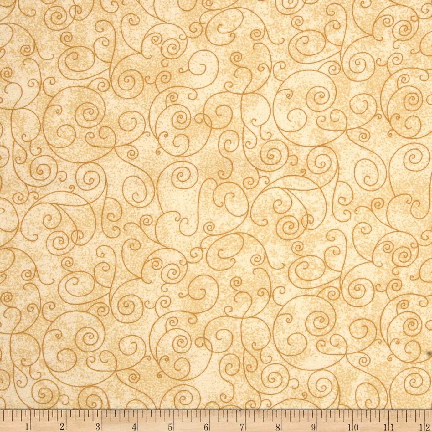 110 Willow Flannel Backing Tan Swirl