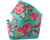 Pink/Orange on Turquoise Chipmunk Ribbon