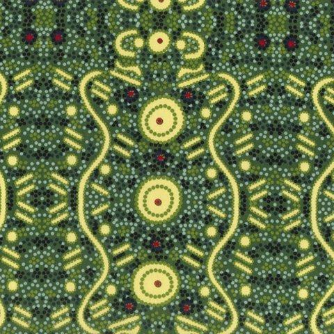 MS Water Dreaming Green by Audrey Martin Napanangka