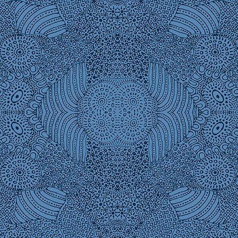 MS Waterhole Blue by Anna Pitjara