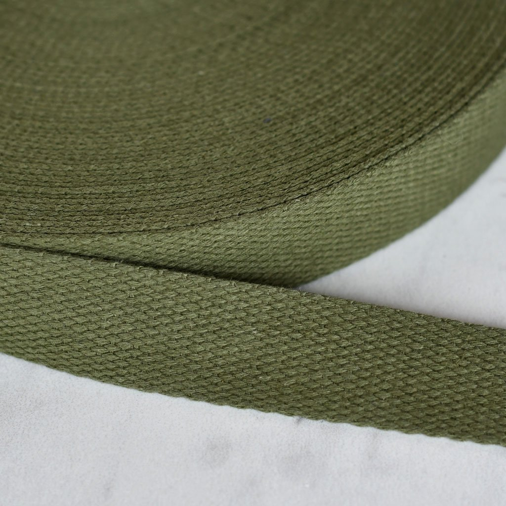 Cotton Webbing 1 100% Ctn Army Green
