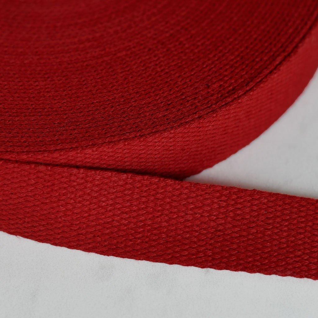 Cotton Webbing 1 100% Ctn Crimson