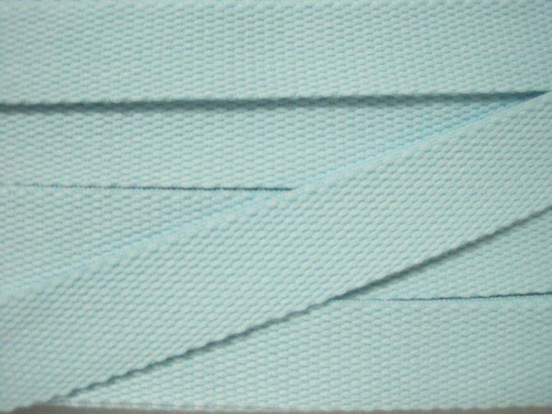 Cotton Webbing 1 100% Ctn Lt Aqua