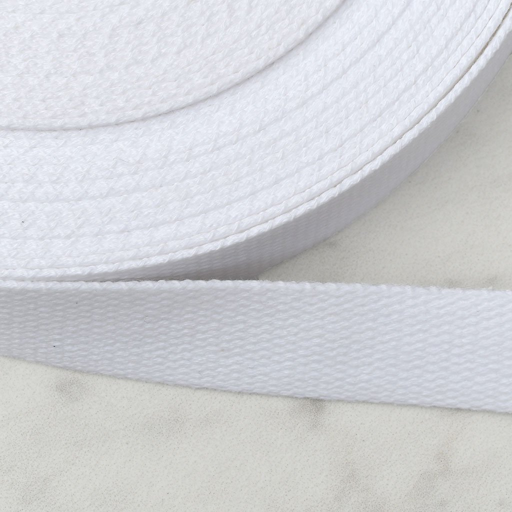 Cotton Webbing 1 100% Ctn White