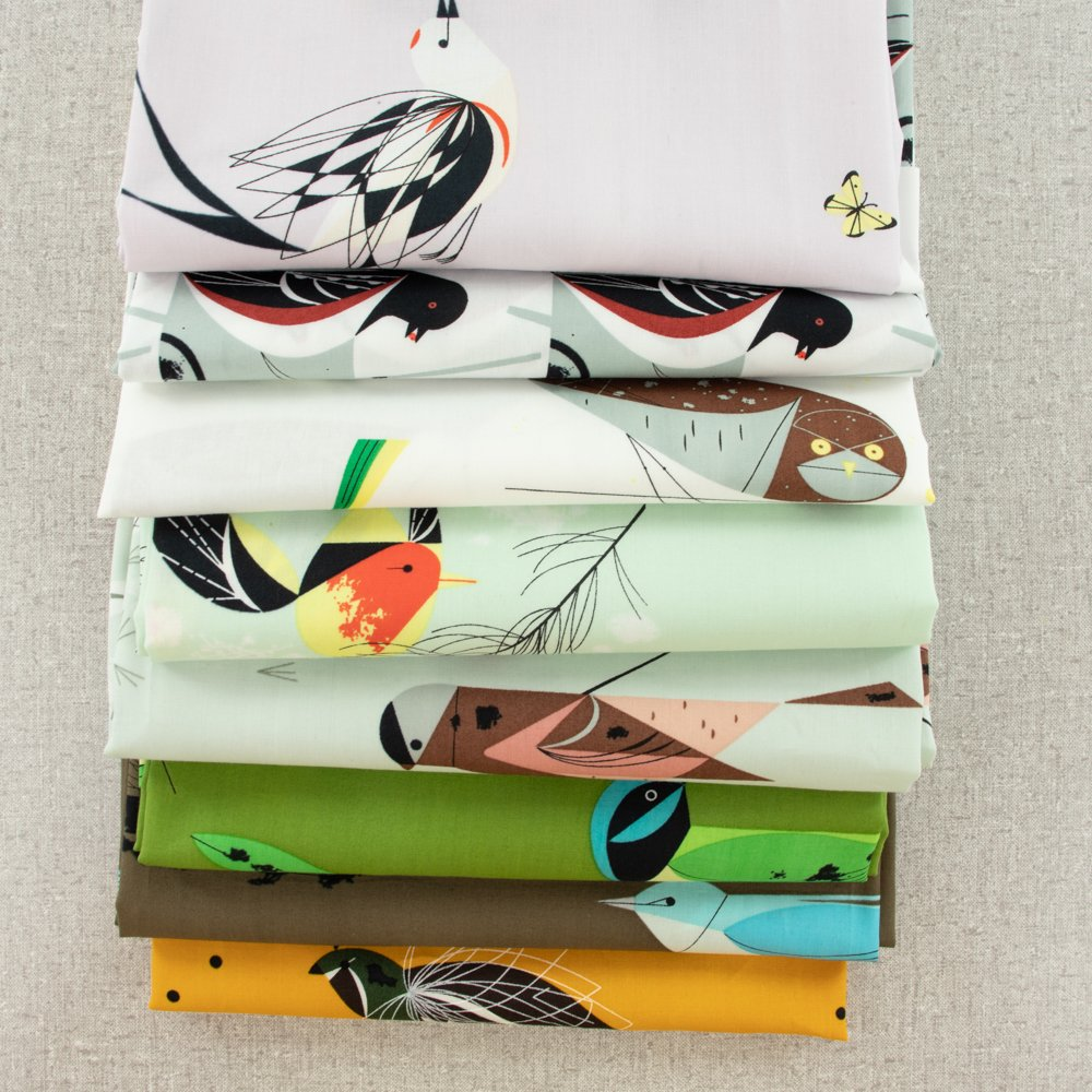 Charley Harper Western Birds FQ Bundle