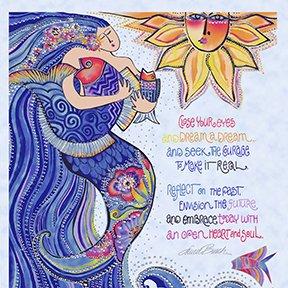 Sea Goddess Panel Periwinkle Metallic