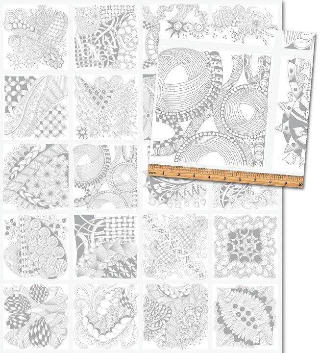 Tangle Time - Squares - White/Silver