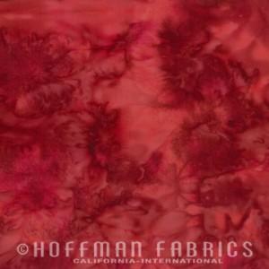 Hoffman Bali - Red Velvet - Watercolour - Red