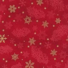 Holiday Flourish 9 - Snowflakes - Red/Gold