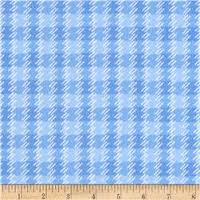 Zoo Baby Flannel - Texture - Blue